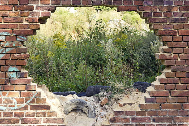 Brick Wall with Garden copy